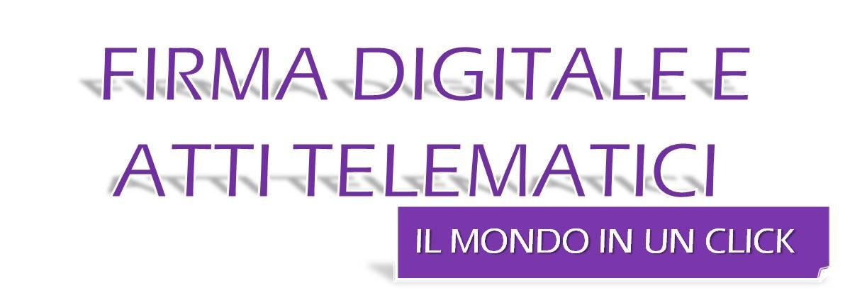 SERVIZIO 5 FIRME DIGITALI E ATTI TELEMATICI